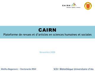 CAIRN Plateforme de revues et d articles en sciences humaines et sociales