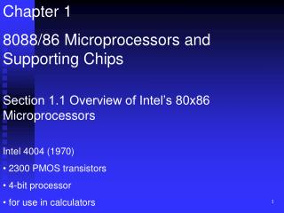 Chapter 1 8088/86 Microprocessors and Supporting Chips