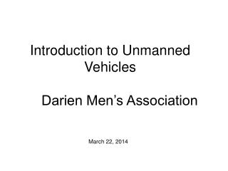 Introduction to Unmanned Vehicles