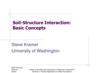 Steve Kramer University of Washington