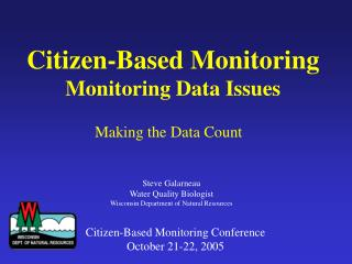 Citizen-Based Monitoring Monitoring Data Issues