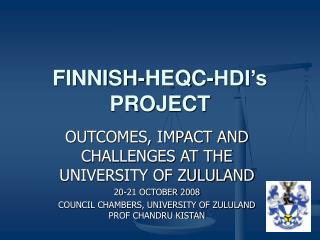 FINNISH-HEQC-HDI's PROJECT