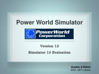 Power World Simulator