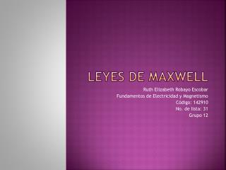 Leyes de Maxwell