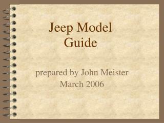 Jeep Model Guide