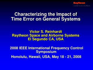 Characterizing the Impact of Time Error on General Systems