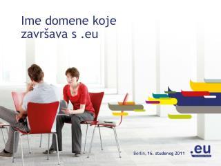Ime domene koje završava s  .eu