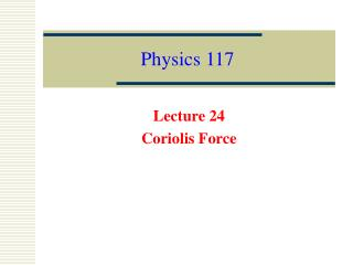 Physics 117
