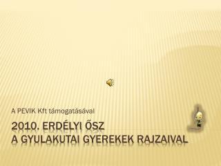 2010. Erdélyi ősz  A GYULAKUTAI GYEREKEK RAJZAIVAL