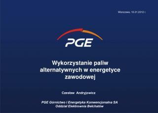 Wykorzystanie paliw alternatywnych w energetyce zawodowej