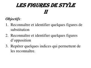 Les figures de style II