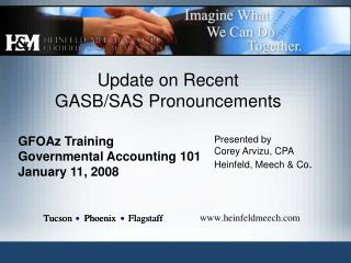 Update on Recent  GASB