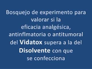 Bosquejo de experimento para valorar si la  eficacia analgésica, antinflmatoria o antitumoral