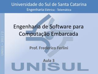 Engenharia de Software para Computação Embarcada