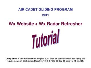 AIR CADET GLIDING PROGRAM