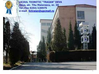 "LICEUL TEORETIC ""TRAIAN"" DEVA"