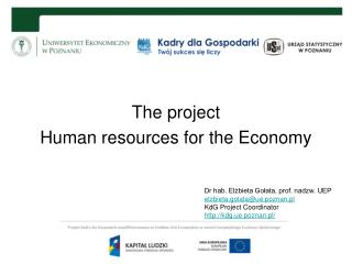 The project Human resources for the Economy