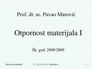Prof. dr. sc. Pavao Marović