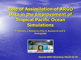 Role of Assimilation of ARGO Data in the Improvement of Tropical Pacific Ocean Simulations