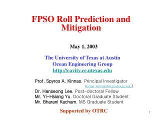 FPSO Roll Prediction and Mitigation