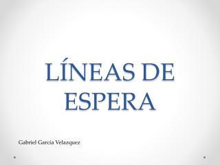 LÍNEAS DE  ESPERA