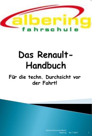 Das Renault-Handbuch