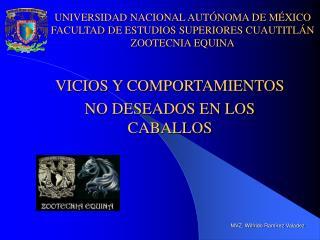 VICIOS Y COMPORTAMIENTOS  NO DESEADOS EN LOS CABALLOS