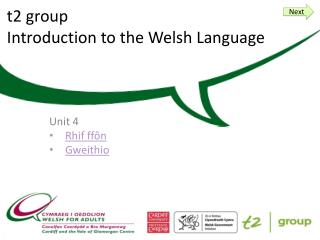 t 2 group Introduction to the Welsh Language