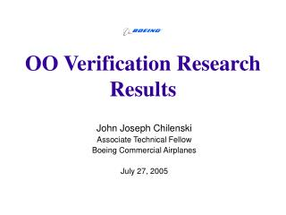 OO Verification Research Results