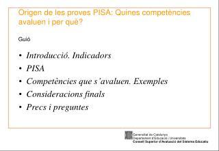 Origen de les proves PISA: Quines compet ncies avaluen i per qu   Gui