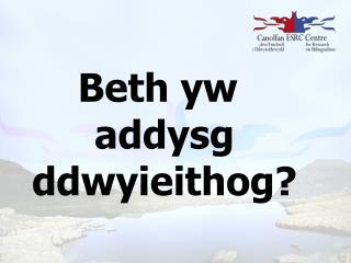 Beth  yw addysg ddwyieithog ?