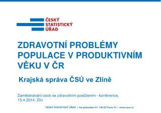 Zaměstnávání osob se zdravotním postižením - konference, 15.4.2014, Zlín