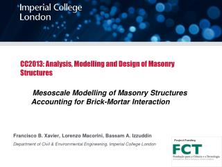 CC2013: Analysis, Modelling and Design of Masonry Structures