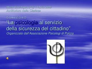 La  psicologia  al servizio della sicurezza del cittadino