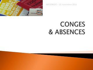 CONGES  & ABSENCES