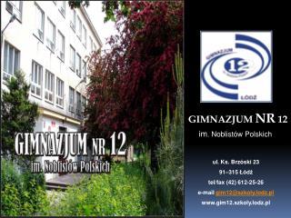 GIMNAZJUM  NR 12