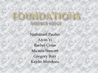 Foundations 8000bce-600ce