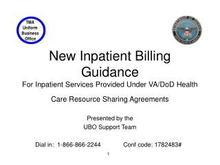 New Inpatient Billing Guidance For Inpatient Services Provided Under VA
