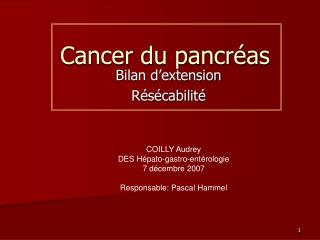 Cancer du pancréas