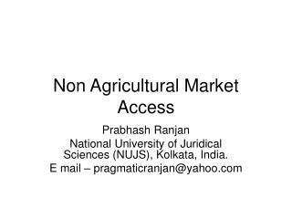 Non Agricultural Market Access