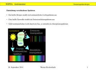 Entstehung verschiedener Spektren