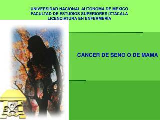UNIVERSIDAD NACIONAL AUTONOMA DE MÉXICO FACULTAD DE ESTUDIOS SUPERIORES IZTACALA