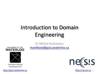 Introduction to Domain Engineering
