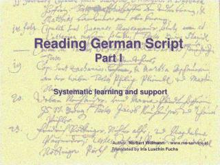 Reading German Script Part I