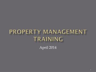 Property Management Training