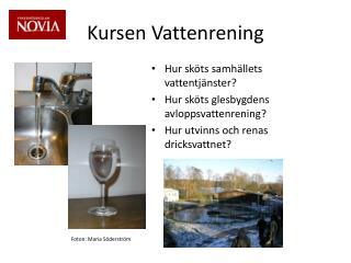 Kursen Vattenrening