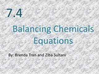Balancing Chemicals  E quations