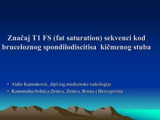 Značaj T1 FS (fat saturation) sekvenci kod bruceloznog spondilodiscitisa  kičmenog stuba
