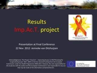 Results  Imp.Ac.T.  project