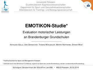 Universität Potsdam Exzellenzbereich Kognitionswissenschaften